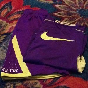 Nike Elite Dri-Fit Shorts and Pro Combat Shirt Set